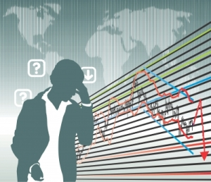 """Business Graph With Man"""" by Vlado"""